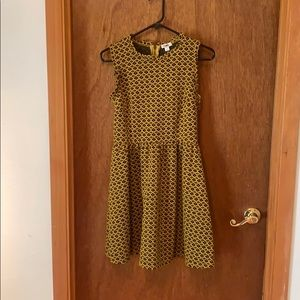 Xhilaration vintage black and yellow dress